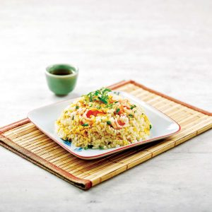 Freid Rice With Diced Prawns/虾仁炒饭
