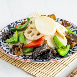 STIR FRIED MIX VEGETABLE WITH CHINESE YAM & LOTUS ROOTS/山药杂菜